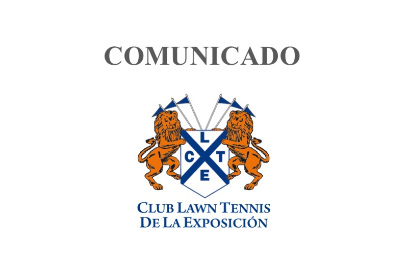 club lawn tennis comunicado