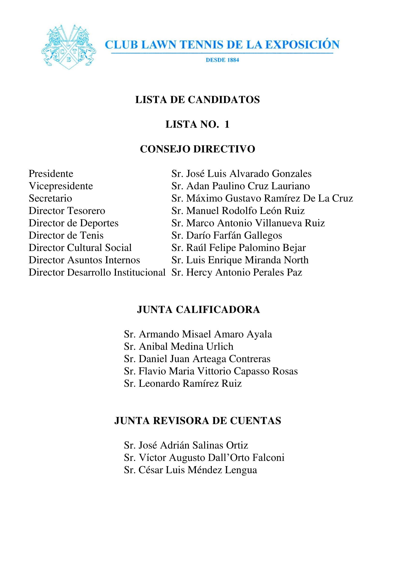 Lista Candidatos Lista No. 1 v2-1