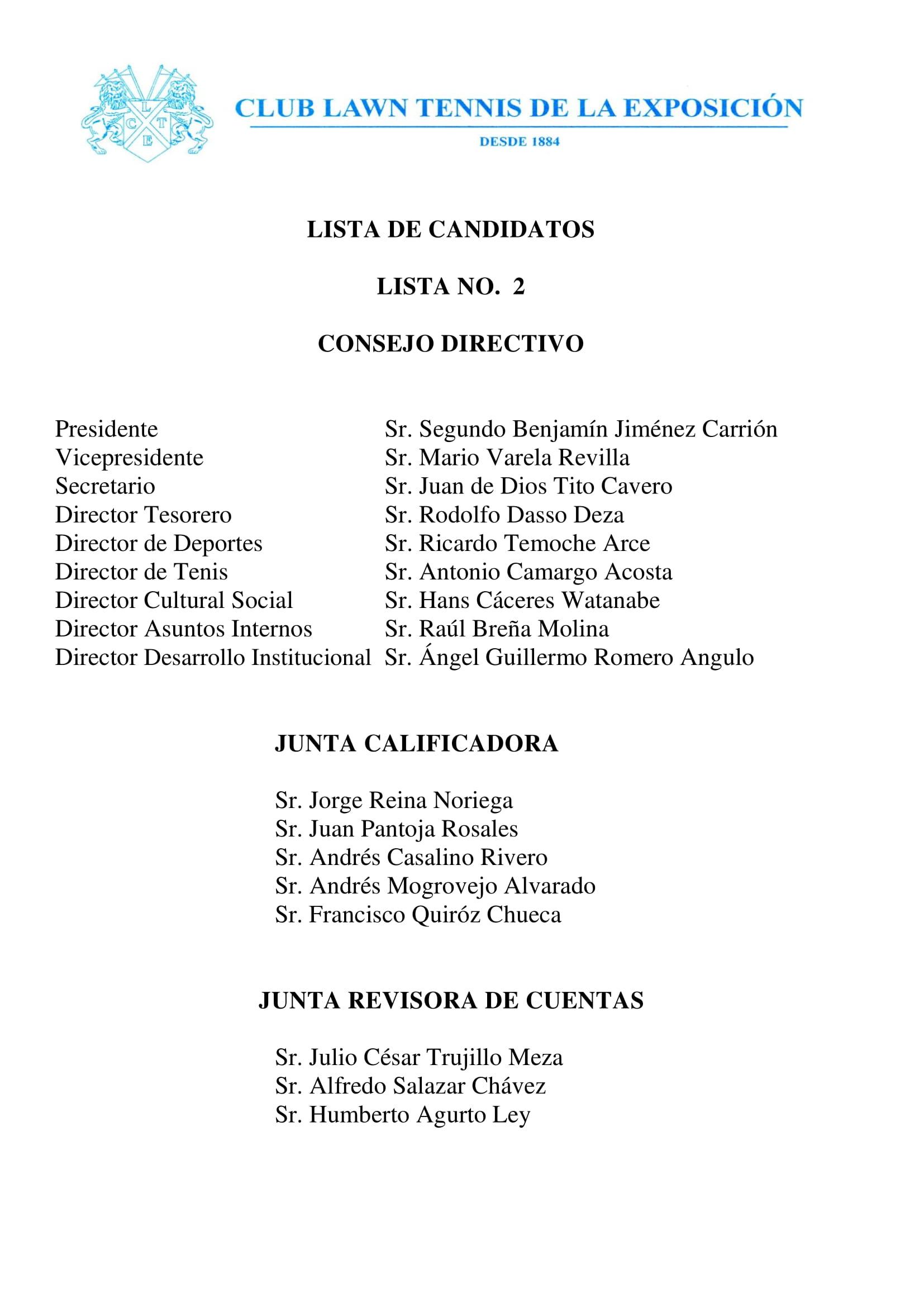 Lista Candidatos Lista No. 2 v2-1